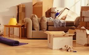 Muebles Empaquetados y Preparados para ser Cargados para la Mudanza